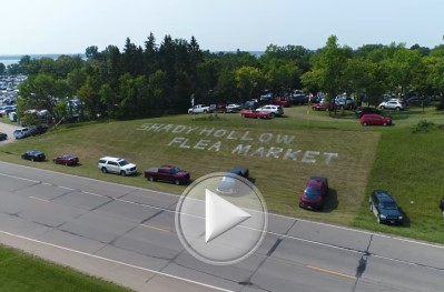 Click for an aerial tour of Shady Hollow Flea Market